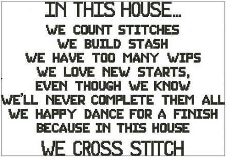In This House - Cross Stitch